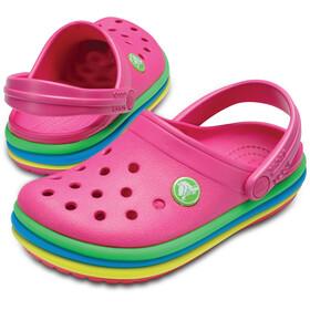 Crocs CB Rainbow Band Lapset sandaalit , vaaleanpunainen